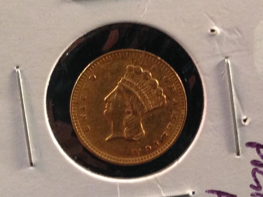 1856 Indian Head Princess Gold $1 - 2