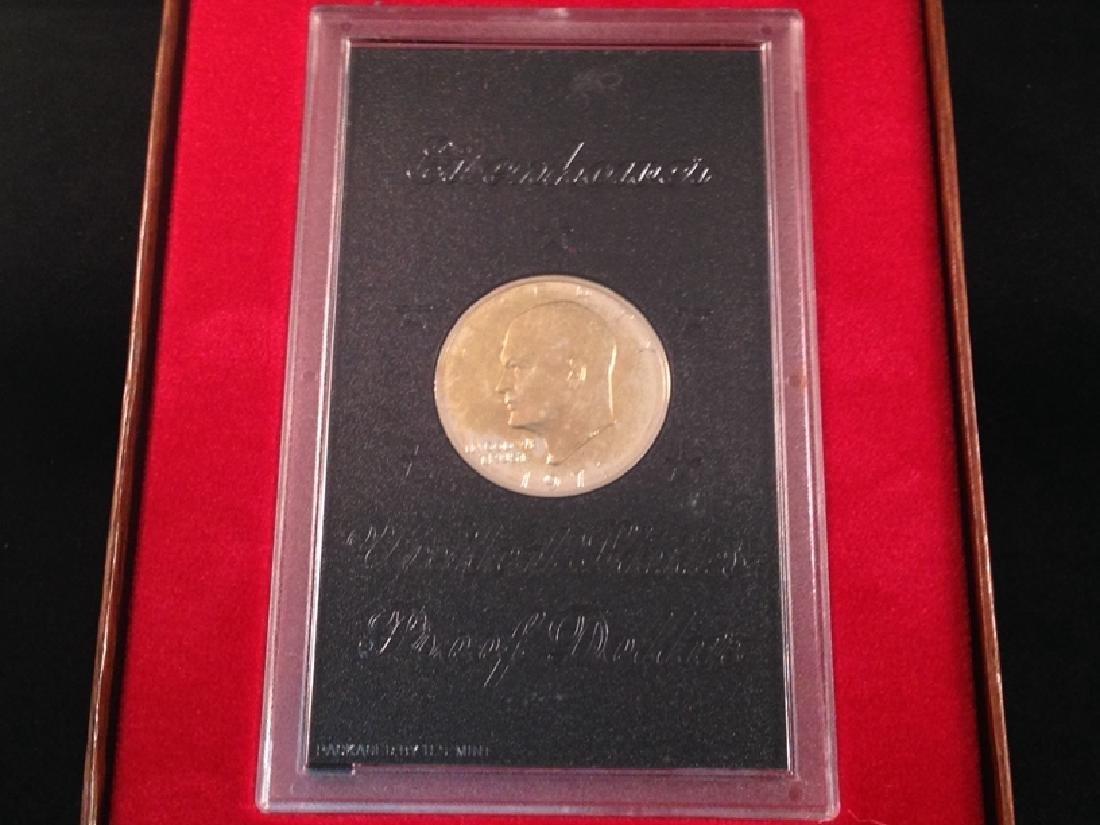 "(4) Uncirculated Ike Proof Dollars ""Brown Ike"" - 2"