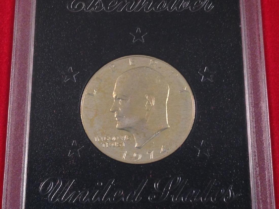 "(4) Uncirculated Ike Proof Dollars ""Brown Ike"" - 3"