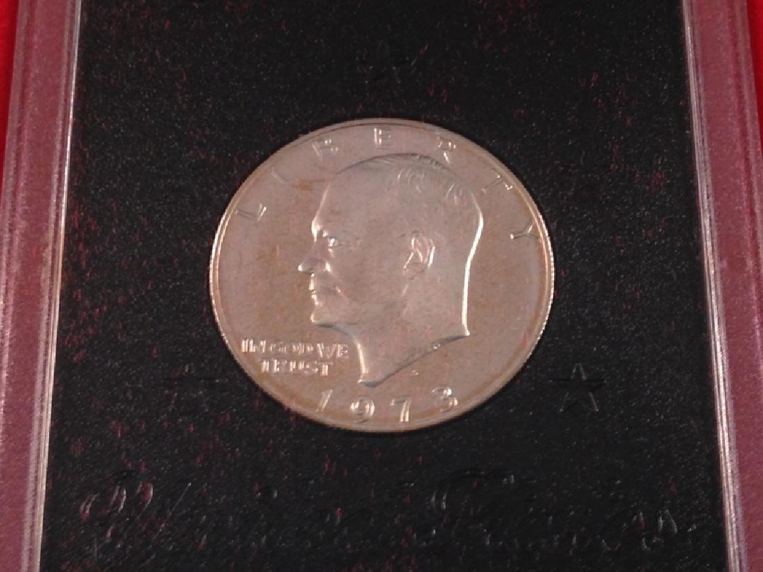 "(4) Uncirculated Ike Proof Dollars ""Brown Ike"" - 4"
