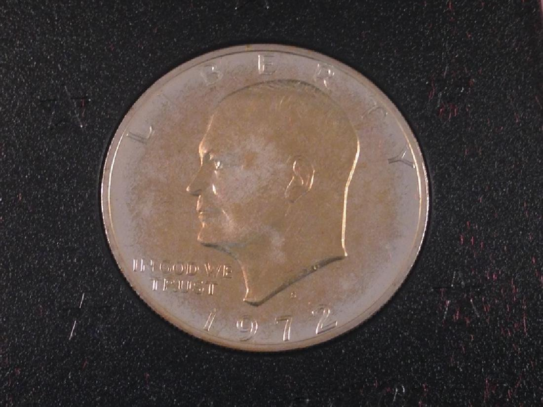 "(4) Uncirculated Ike Proof Dollars ""Brown Ike"" - 5"