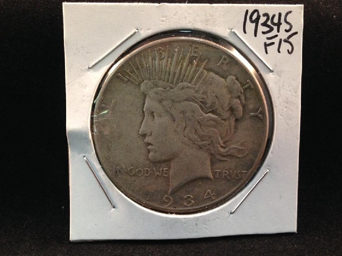 1934 S Peace Silver Dollar Better Date/Mint Coin
