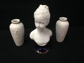 (3) Thauraud LIMOGES Bisque Items.