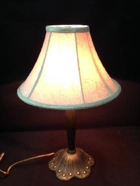 Vintage Art Deco Style Cast Metal Lamp.