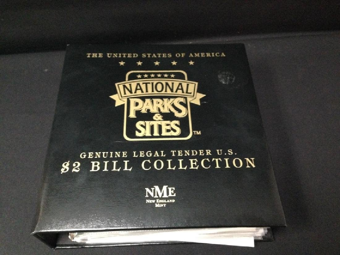 National Parks & Sites Binder of Genuine $2 Bills