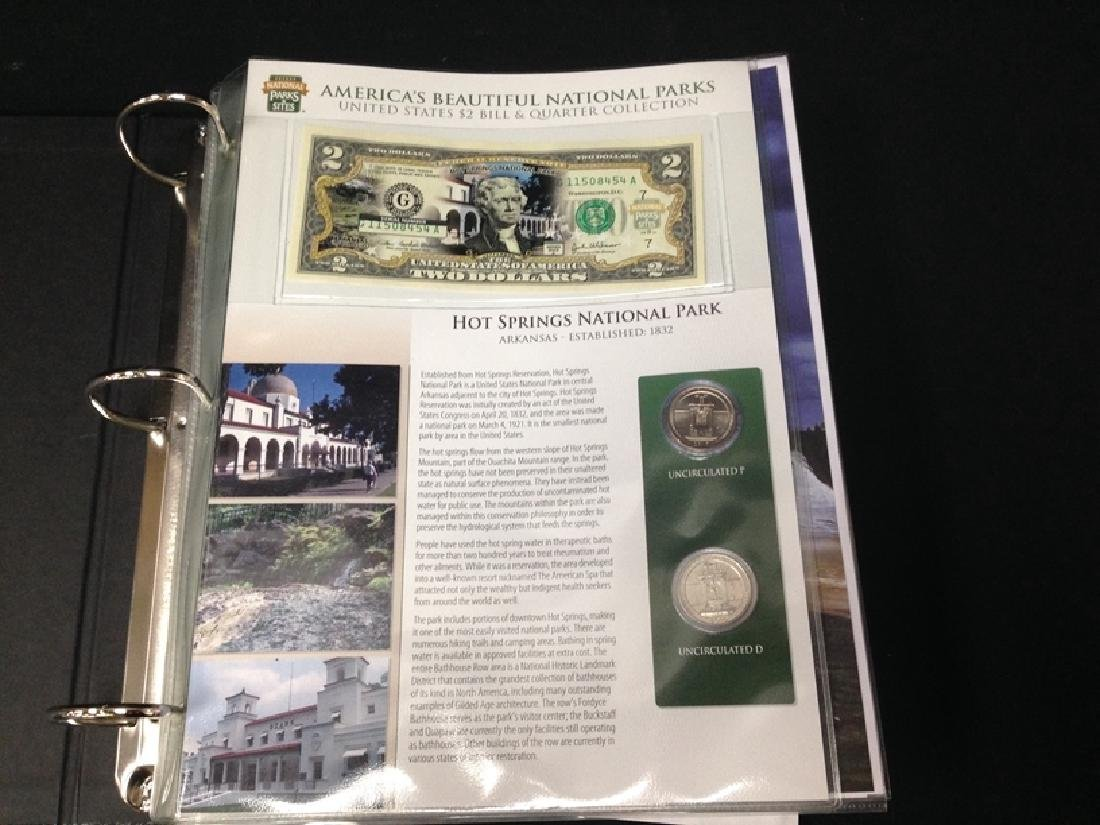 National Parks & Sites Binder of Genuine $2 Bills - 2