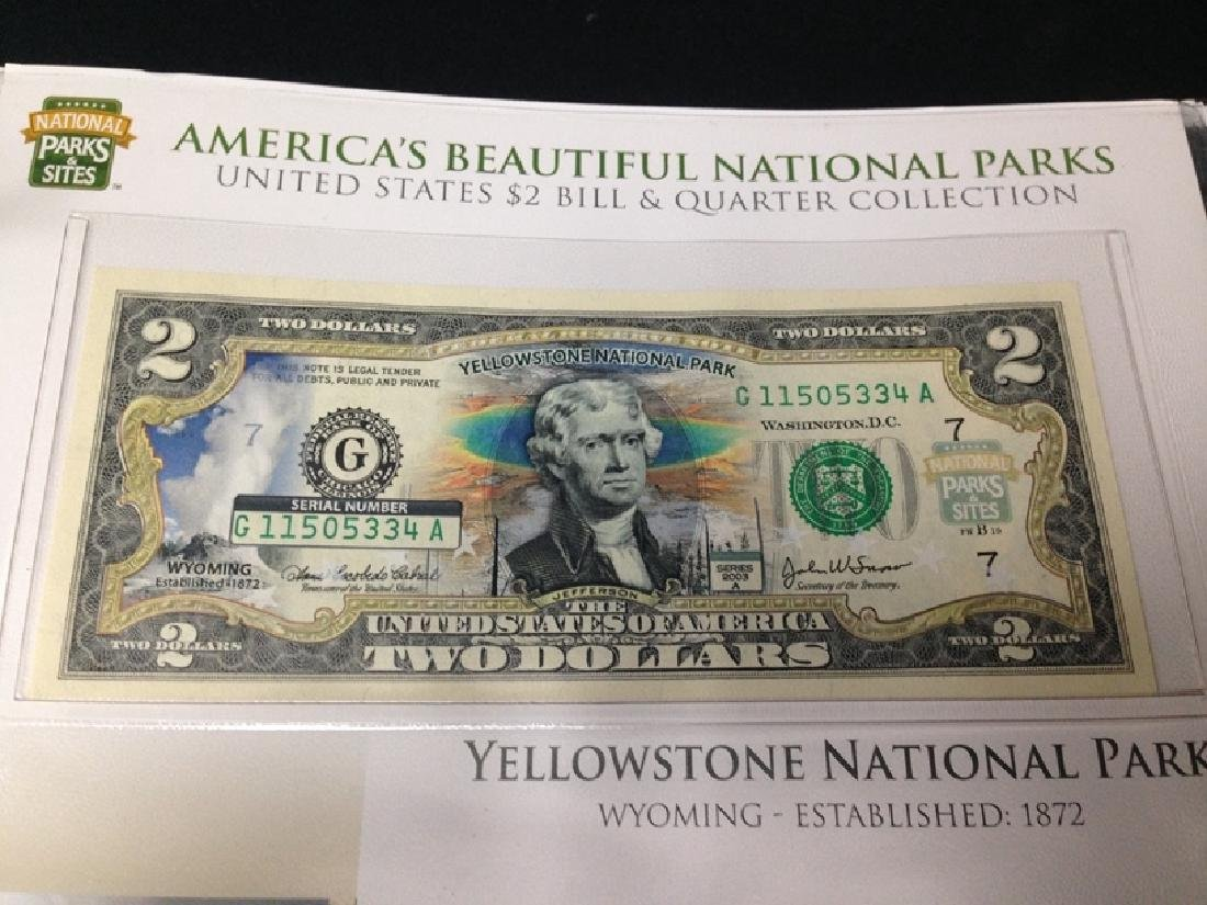 National Parks & Sites Binder of Genuine $2 Bills - 3