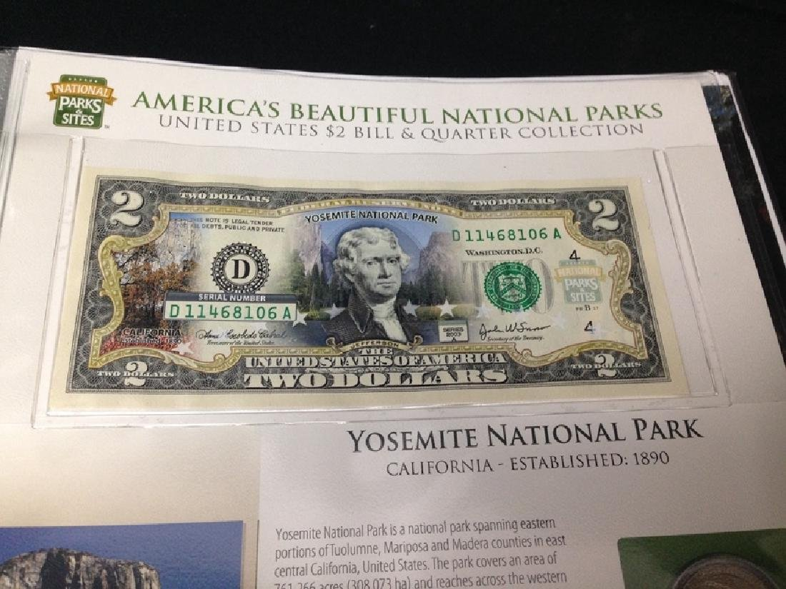 National Parks & Sites Binder of Genuine $2 Bills - 5