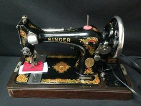 Antique Portable Singer Sewing Machine Electric