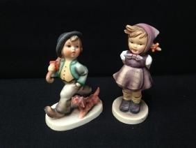 (2) Hummel Figurines 'WHICH HAND' & 'STROLLING