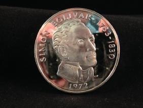 1972 Panama 20 Balboas Coin w/COA