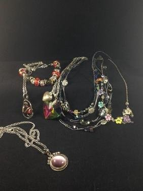 Mixed Lot of Sparling Fashion Necklaces.