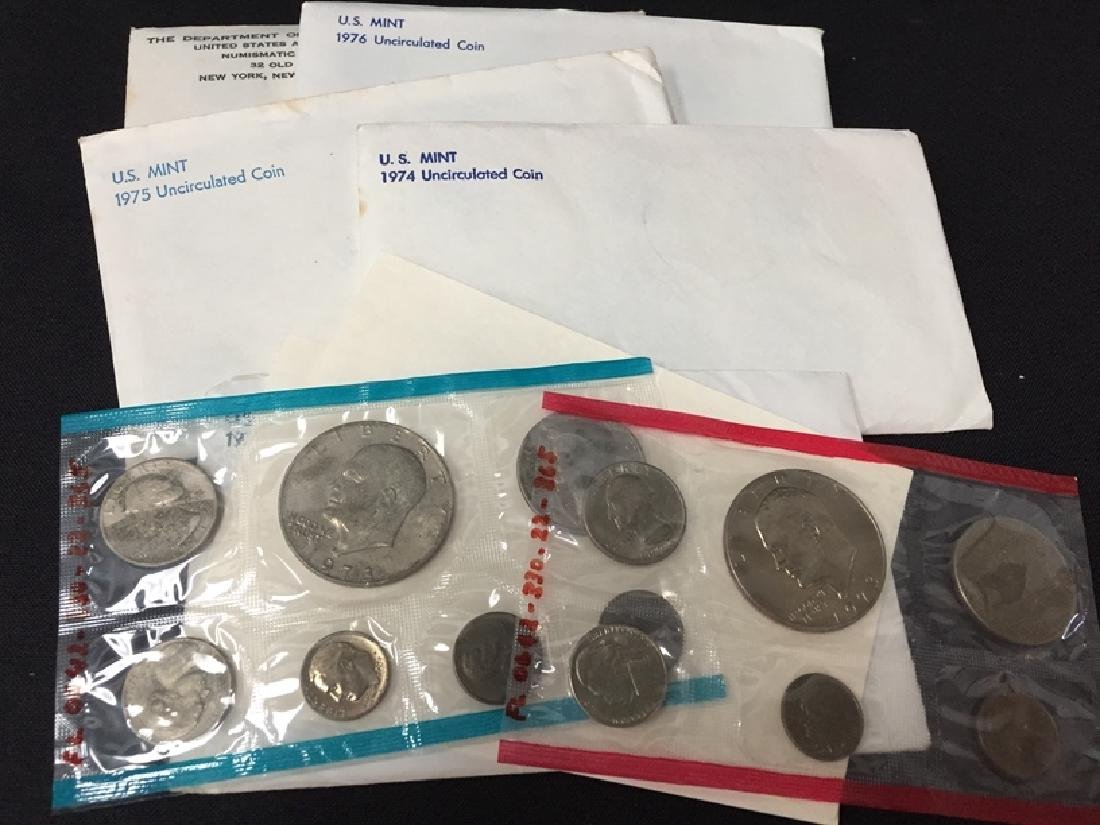 Lot of (12) uncirculated coin sets