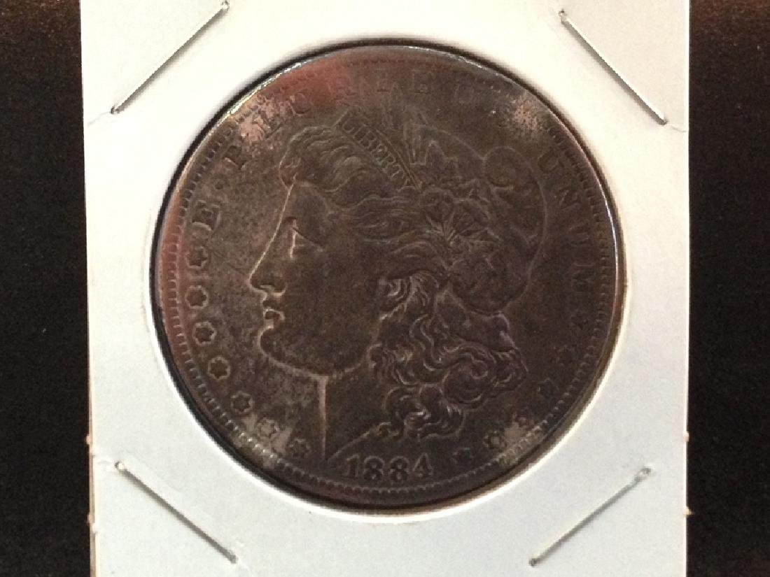 1884 O Morgan Silver Dollar Nice Reverse