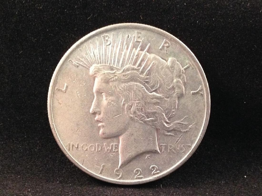 Lot of (6) Peace Silver Dollars - 6