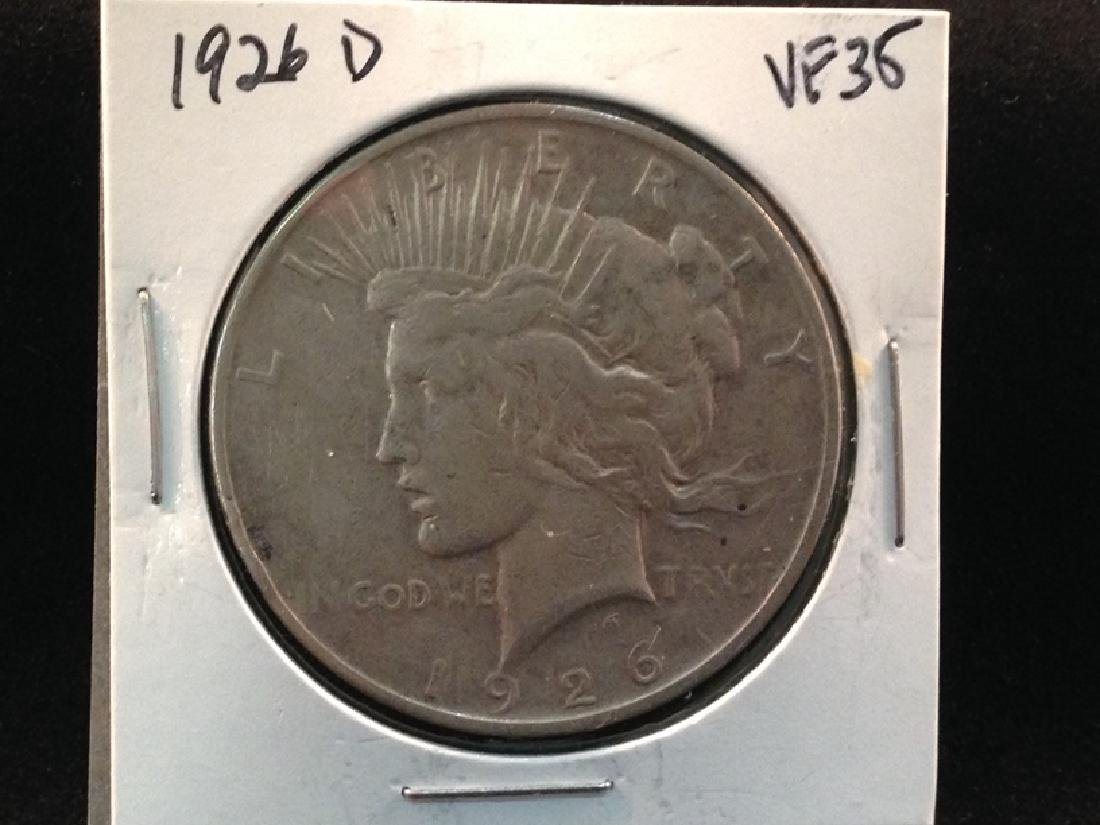 1926 D Better Date Peace Silver Dollar