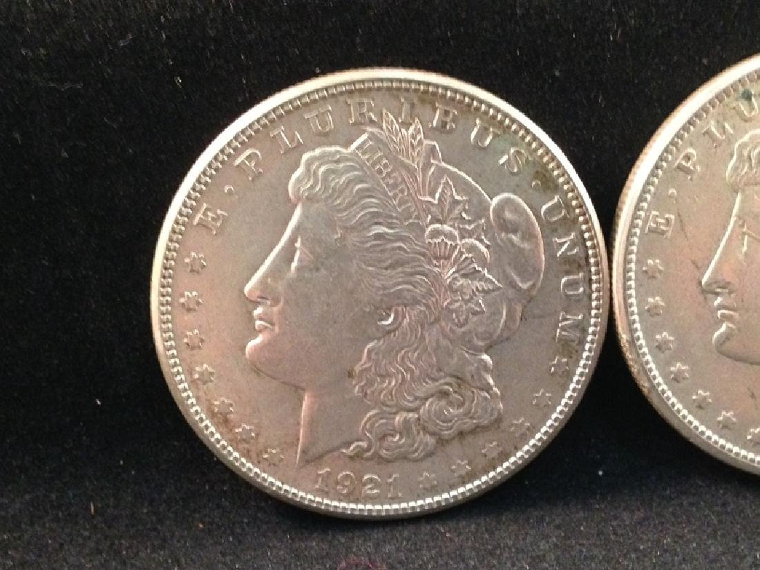 Lot of (5) 1921 Morgan Silver Dollars - 2