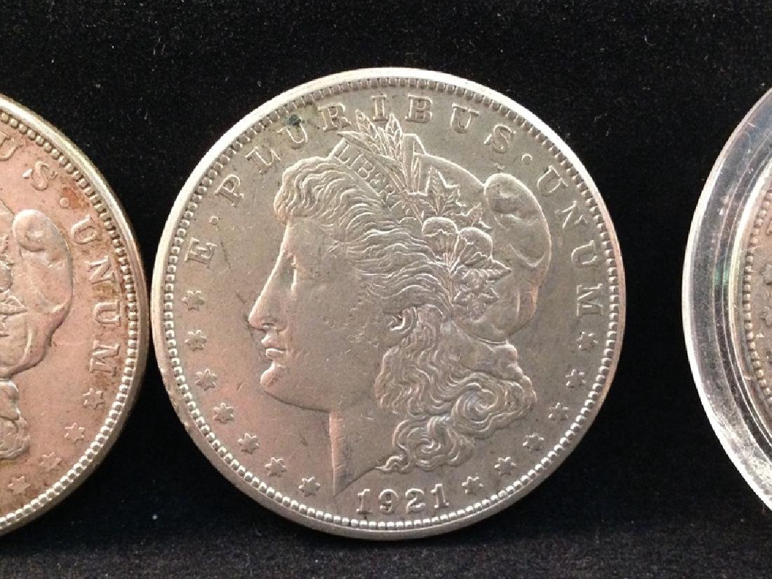 Lot of (5) 1921 Morgan Silver Dollars - 3