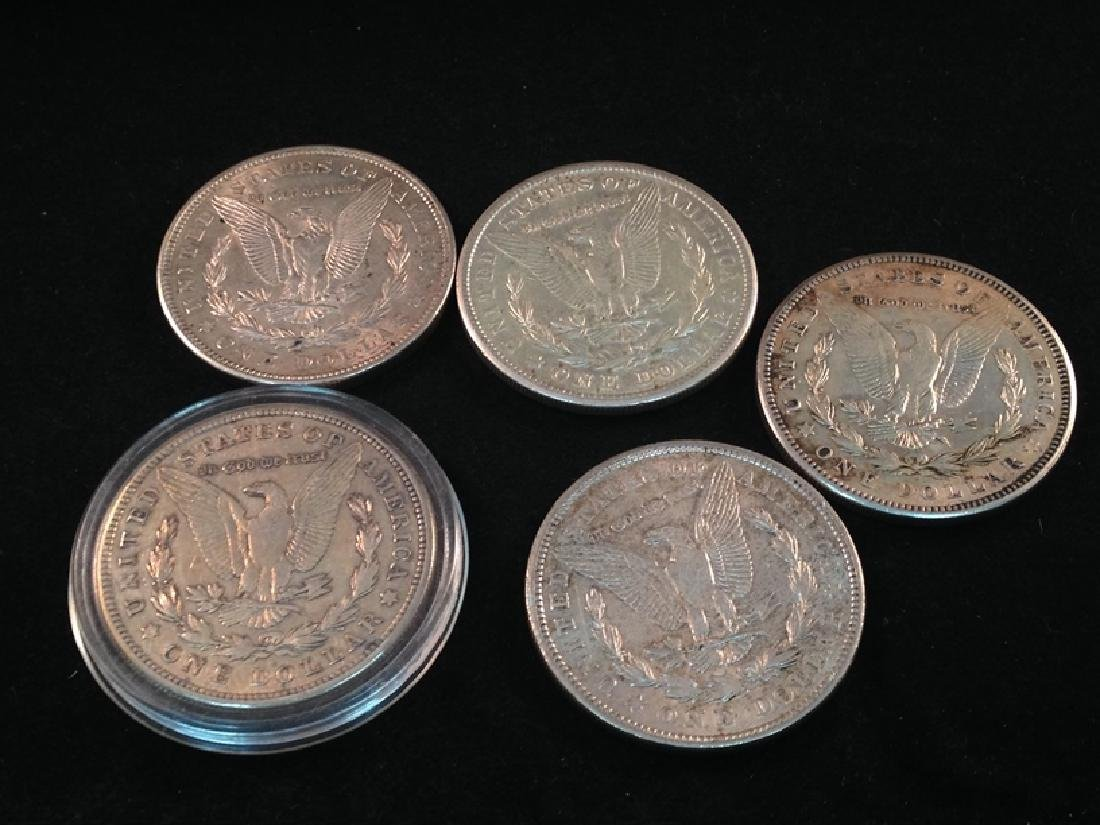 Lot of (5) 1921 Morgan Silver Dollars - 7
