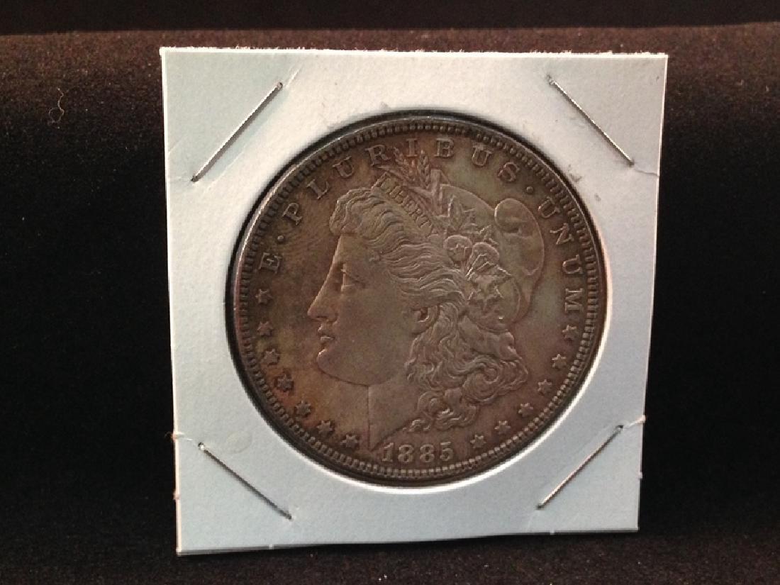 1885 Morgan Silver Dollar Nicely Toned