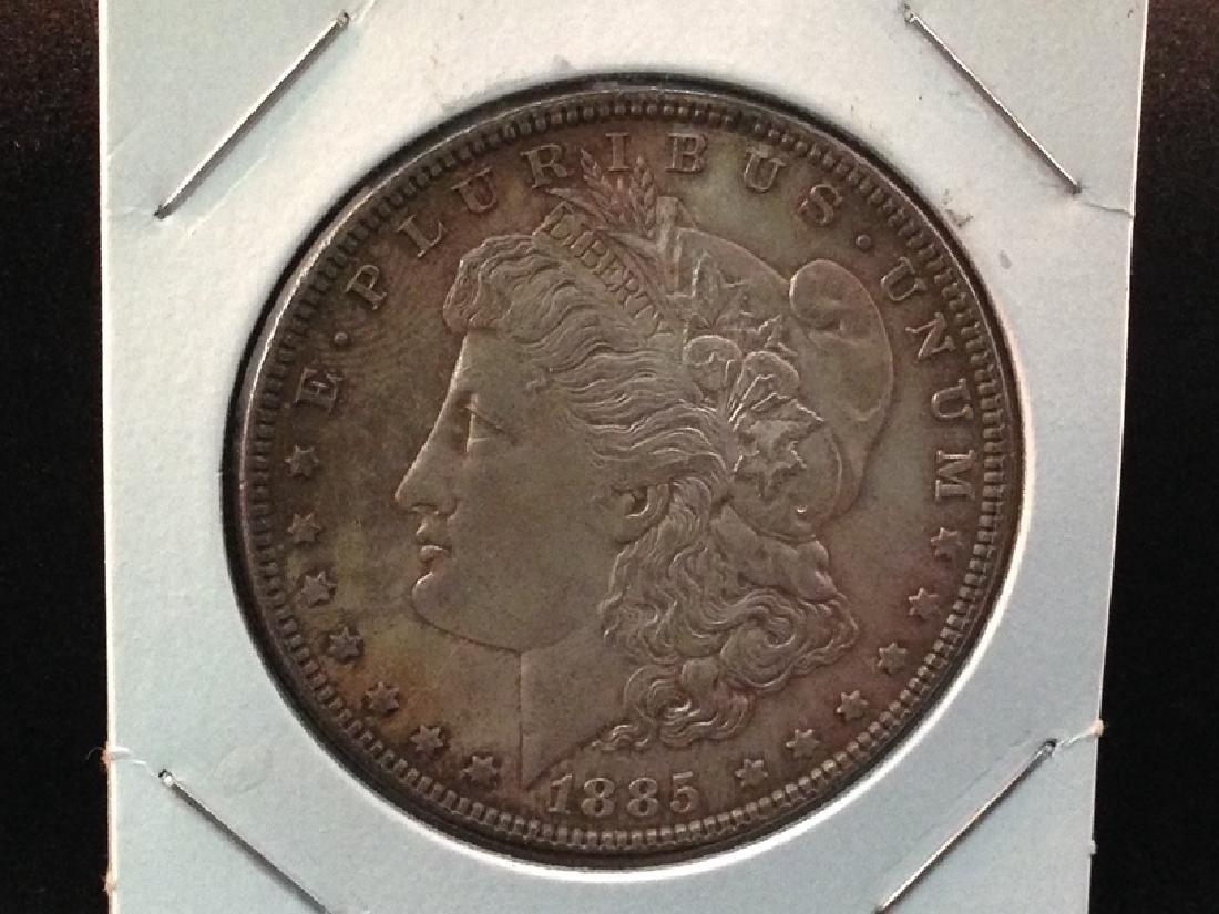 1885 Morgan Silver Dollar Nicely Toned - 2