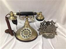 Victorian Style Telephone and Letter Holder.