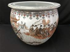 Oriental Planter with rare coloring- LARGE