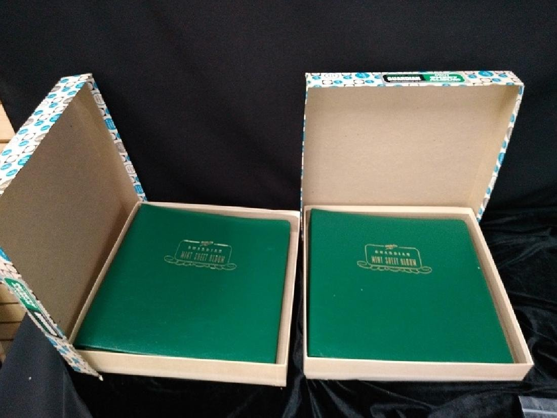 Lot of (2) White Sheet Guardian Mint Stamp Albums