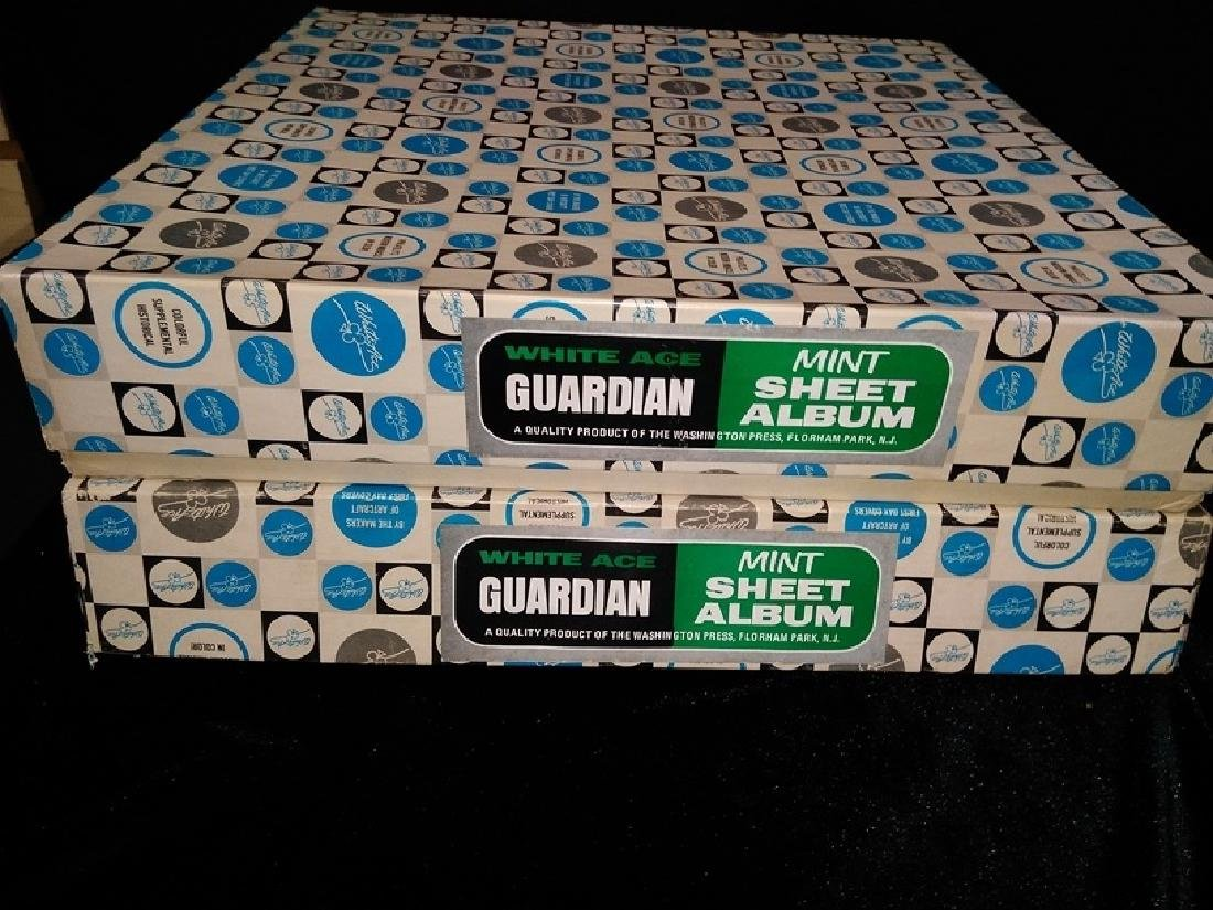 Lot of (2) White Sheet Guardian Mint Stamp Albums - 4