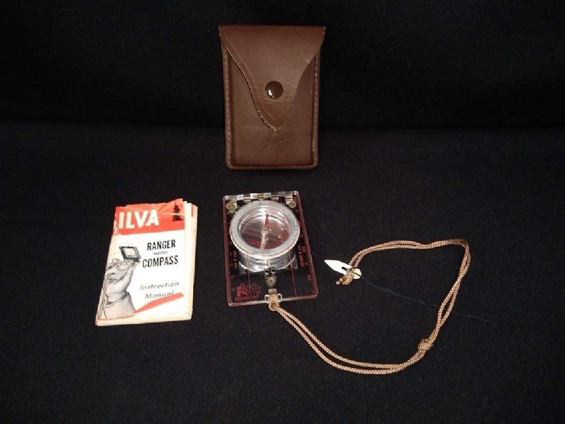 Silver Compass 15 T The Ranger With Leather Case