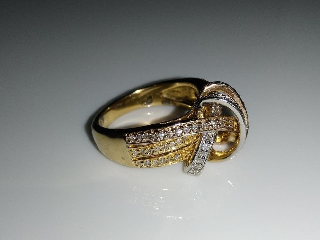.925 Tri-Color Ring with Diamonds - 3