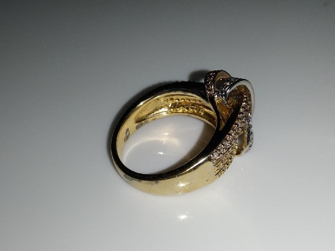 .925 Tri-Color Ring with Diamonds - 4