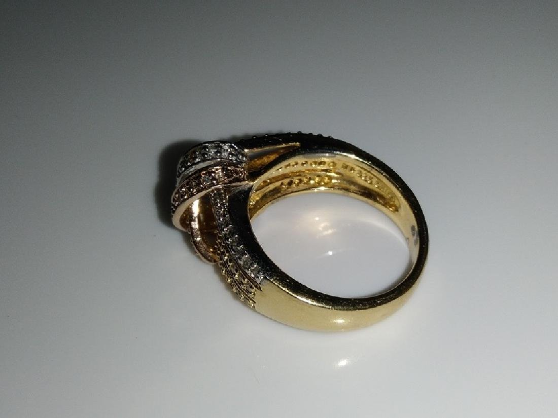 .925 Tri-Color Ring with Diamonds - 5