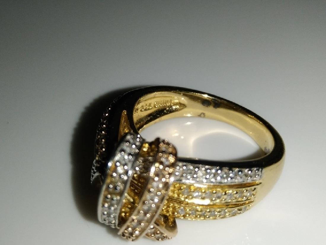 .925 Tri-Color Ring with Diamonds - 6