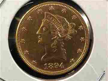 1894 $10 Liberty Head Gold Coin