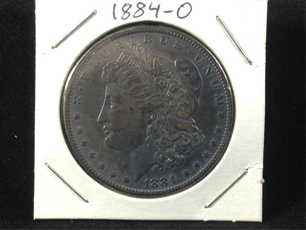 1884-O Morgan SIlver Dollar, Nice Dark Toning.