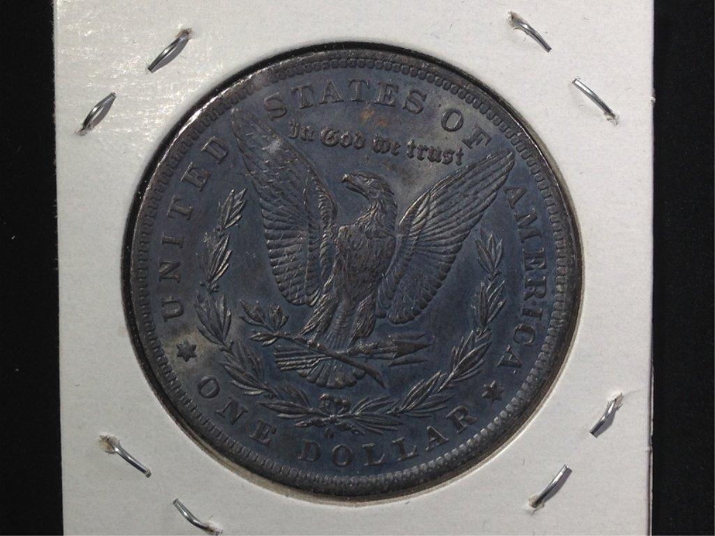 1884-O Morgan SIlver Dollar, Nice Dark Toning. - 2