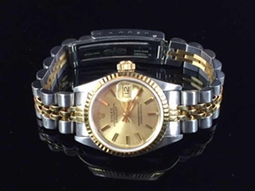 Ladies Rolex Watch 18 Y Gold & Stainless Steel