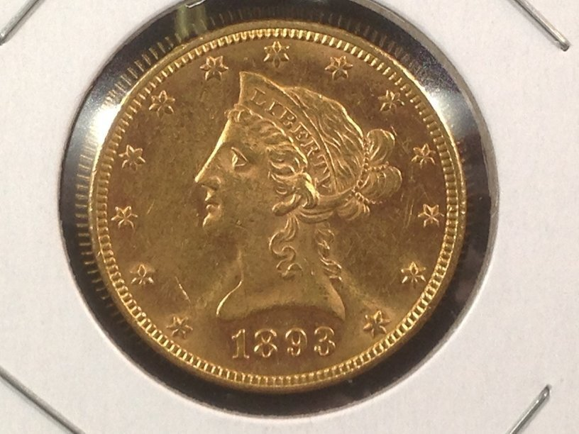 1893 Liberty Head $10 Gold Coin Amazing!!!