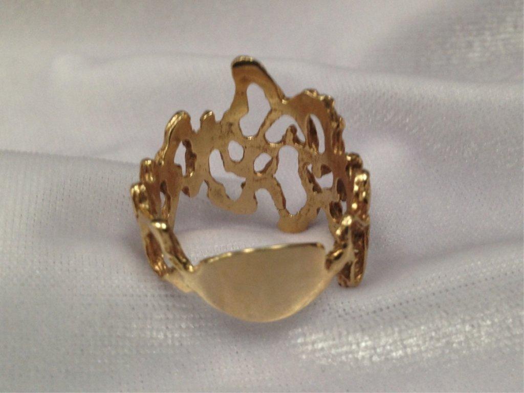 Vintage 14K YG Modern Ring. Size 8-3/4. - 3