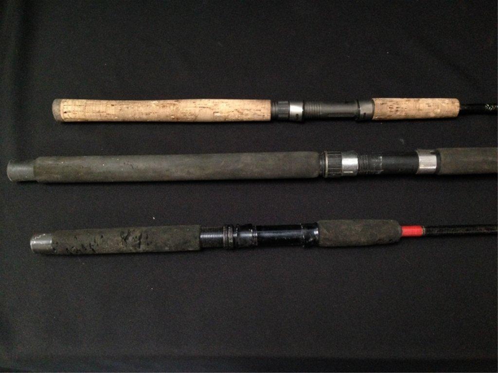 Lot (3) Fishing Rods..See Description. - 2