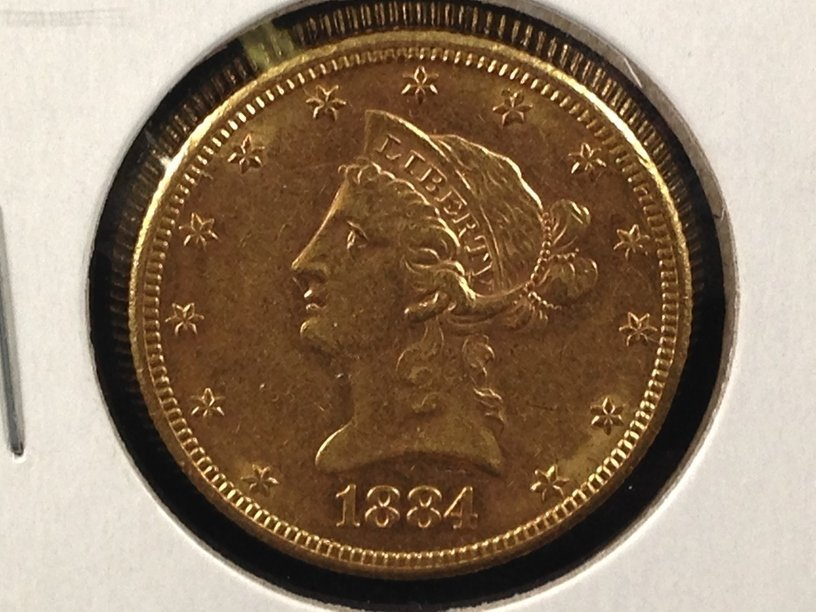 1884 S $10Liberty Head Gold Coin