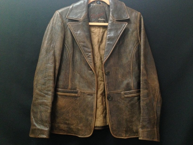Vintage Ladies Rogue Distressed Leather Jacket.