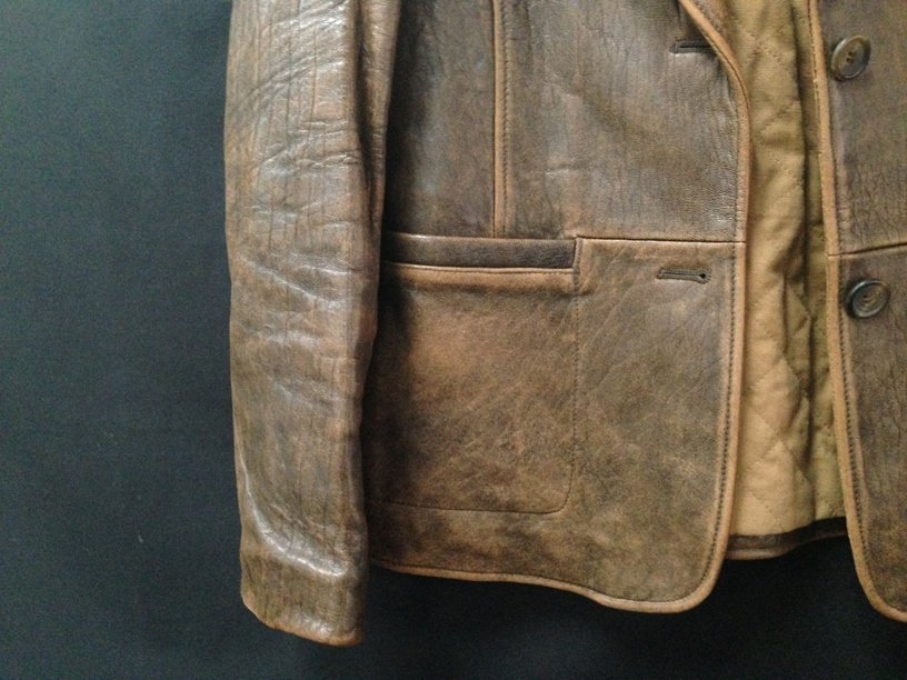 Vintage Ladies Rogue Distressed Leather Jacket. - 2