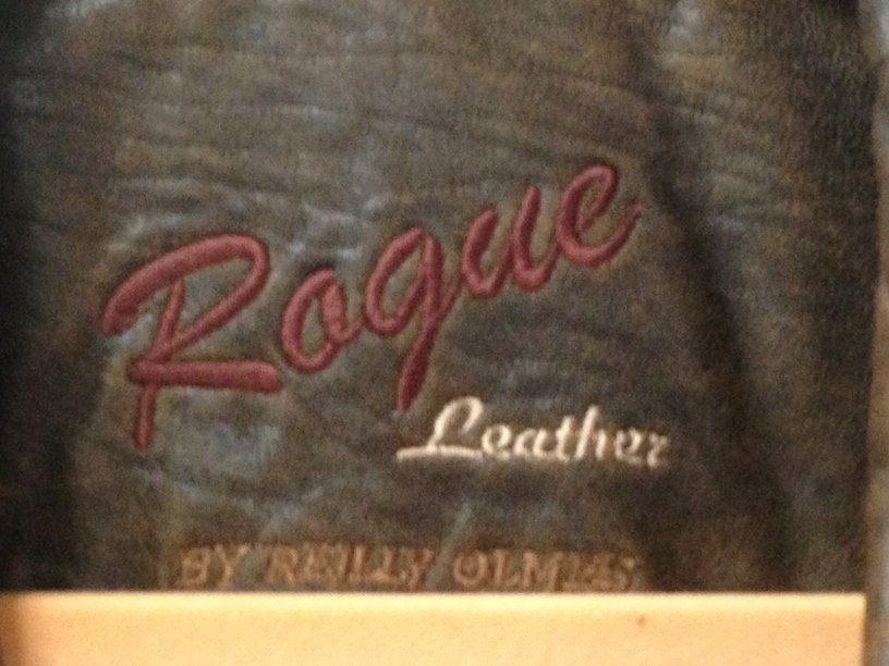 Vintage Ladies Rogue Distressed Leather Jacket. - 3