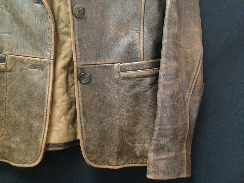 Vintage Ladies Rogue Distressed Leather Jacket. - 4