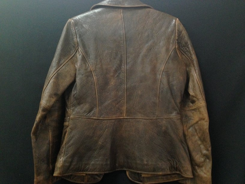 Vintage Ladies Rogue Distressed Leather Jacket. - 5