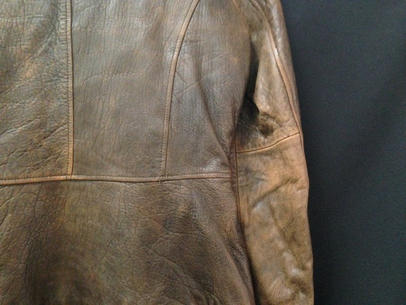 Vintage Ladies Rogue Distressed Leather Jacket. - 6