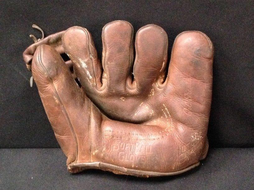 Vintage Hutch Leather Open Finger Baseball Glove.