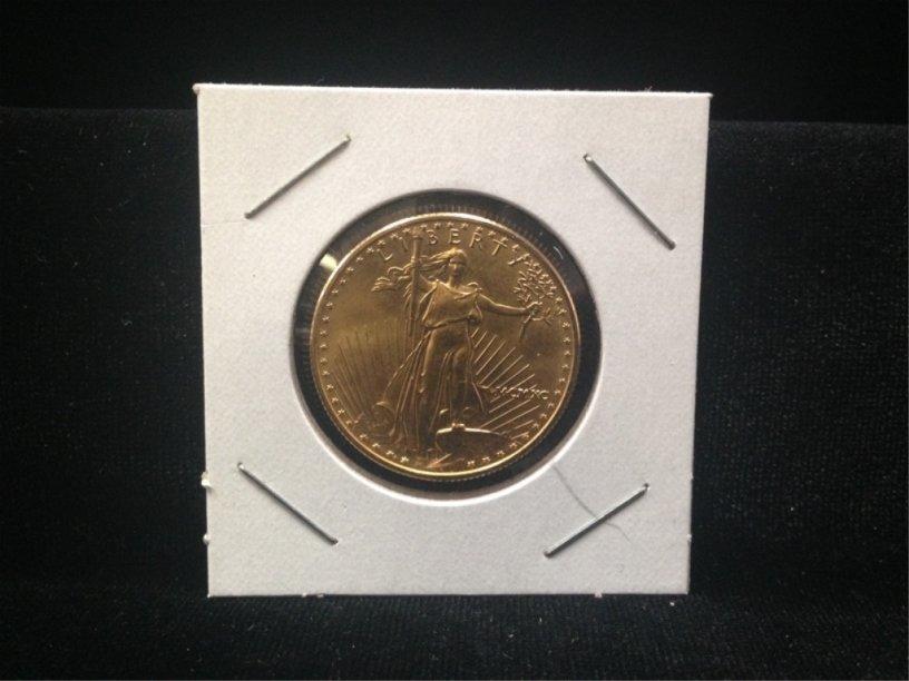 RARE ALERT!!! 1999 1/2 Eagle $25 Gold Coin